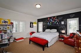 Bedroom With Red Accent Wall - 21 creative accent wall ideas for trendy kids u0027 bedrooms