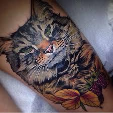 tattoo cat beautiful cat leg tattoo cat tattoos pinterest leg tattoos