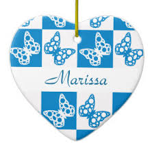 blue white butterfly ornaments keepsake ornaments zazzle