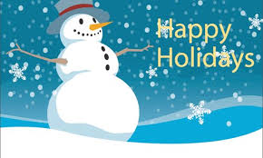 snowman wishes you happy holidays