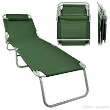 Patio Chaise Lounges Portable Lawn Chair Folding Outdoor Chaise Lounge Beach Patio Army