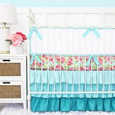 Pink And Aqua Crib Bedding Funky Pink Aqua Baby Bedding Caden