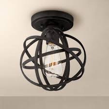 Bronze Ceiling Light Industrial Atom 8