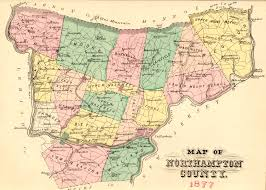 County Map Pennsylvania by Ancestor Tracks Northampton County Landowner Map 1860