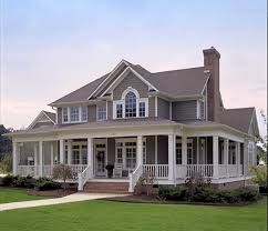 country farmhouse with wrap around porch 16804wg architectural