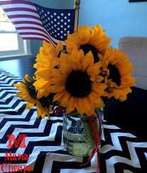 sunflower centerpiece patriotic sunflower centerpiece simple beautiful frugal diy