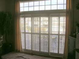 Plantation Shutters On Sliding Patio Doors Plantation Shutters For Sliding Doors Drapery Crafters