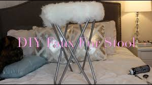 diy faux fur stool youtube