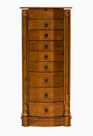 Jewelry Armoire With Lock And Key Hives U0026 Honey Louis Jewelry Armoire Honey Oak