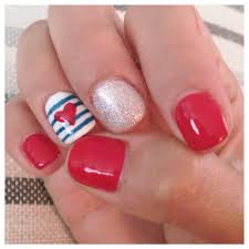 super cute shellac nail design for the fourth of july yelp