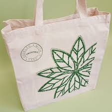 Screen Print Aprons Luxury Shopper Bag High Quality Printed Cotton Bags Bidbi