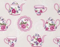 Shabby Chic Floral Curtains by Pink Curtains Etsy
