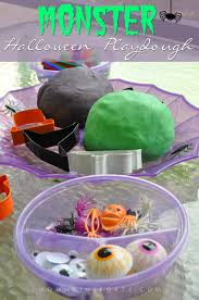 monster halloween play dough recipe kristen hewitt
