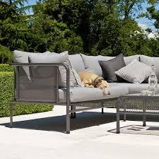 canapé haut de gamme modulable de canapé de jardin haut de gamme en acier par