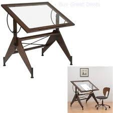 Glass Drafting Table With Light Studio Design Aries Glass Top Desk Adjustable Designs Drawing