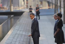 president obama visiting the site of 9 11 for the last time as