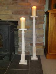 floor candle holders white romantic interior home with floor