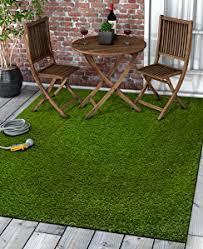 Green Turf Rug Amazon Com Super Lawn Artificial Grass Rug Indoor Outdoor