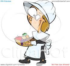 clipart of a happy thanksgiving pilgrim caucasian