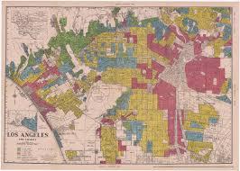 Los Angeles Map Poster redlining los angeles 1936 1939