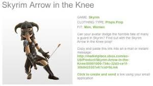 Xbox Live Meme - finally your xbox live avatar can take an official skyrim arrow in