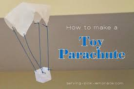 serving pink lemonade toy parachute with free template to make