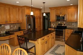 Maple Kitchen Island Kitchen Maple Kitchen Cabinets With Kitchen Island Flush Mount