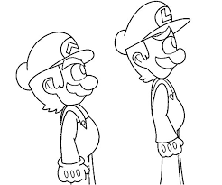 mario luigi stand coloring pages download u0026 print