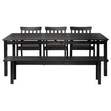 Ikea Patio Chairs Patio Furniture Ac284ngsac296 Table With Bench And Chairs Black