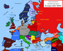 map of europe in 1918 thefreebiedepot