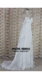 bohemian boho wedding dress backless beach wedding dress