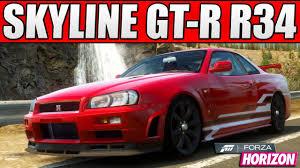 nissan r34 custom forza horizon custom cars 1 1 000bhp nissan skyline gt r r34