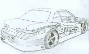 coloring pages drifting cars car drift pencil and in color car drift