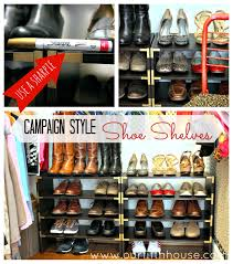 Closet Organizing Ideas For Kitchen Home Design By John Diy Shoe Rack U0026 Campaign Style Shoe Shelves Our Fifth House