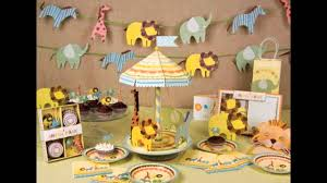 jungle themed baby shower decorations ideas youtube