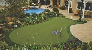 Putting Turf In Backyard Home Putting Greens Colorado Synthetic Grass Putting Green