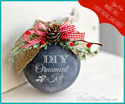 diy chalk ornament kit diy paint co