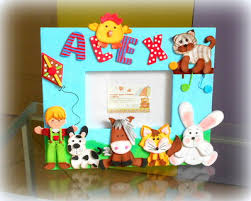 immagini cornici per bambini cornici portafoto per bambini dipinte in acrilico e decorate in