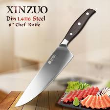 kitchen knives german xinzuo 8 inch chef knife german din1 4116 steel kitchen knives