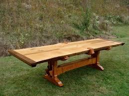 Slab Table Etsy by Live Edge Slab Trestle Table By Lazarushandplaneco On Etsy