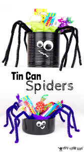 tin can spider craft kids craft room