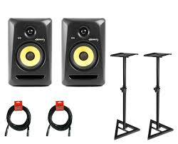 Studio Monitor Desk Stands by Krk Rokit 5 G3 Active Studio Monitors With Samson Ms200 Stands And