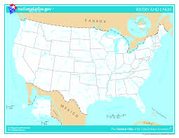 State Map Usa by Us Rivers Enchantedlearningcom Map Of Rivers In America America
