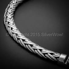 silver weave bracelet images Double rope weave bracelet x 10mm jpg