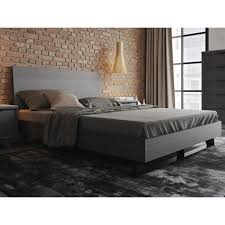 Oak Platform Bed Amsterdam Grey Oak Platform Bed By Modloft Available In