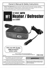 12 volt fan harbor freight download harbor freight tools 12v auto heater defroster with light
