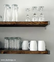 Ikea Kitchen Shelves Kitchen Progress Open Shelving Woods And Wood Shelf
