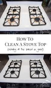 How To Clean Grease Off Kitchen Cabinets Best 25 Clean Stove Tops Ideas On Pinterest Diy Glass Cleaning