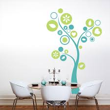 circle tree wall decal circle tree with hearts and flowers wall decal