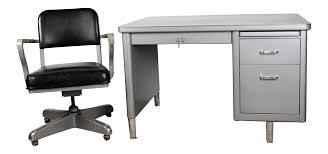 Small Tanker Desk Steelcase Mini Tanker Desk Chair Set Chairish